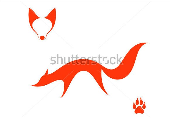 fox lon on white background
