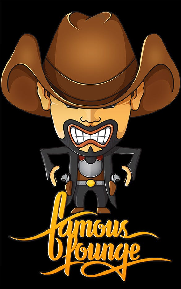 cartoon cowboy logo