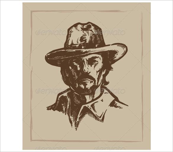 vintage cowboy logo