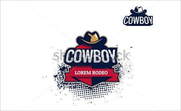 colorful cowboy logo design