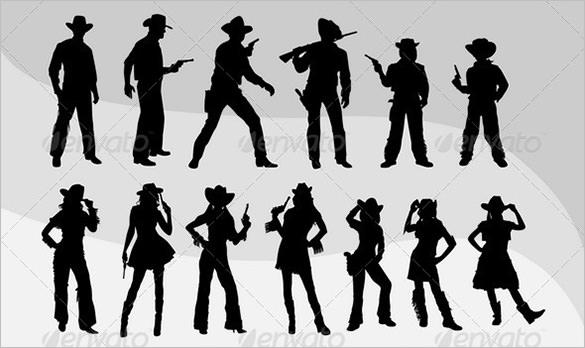 cowboy cowgirl logo