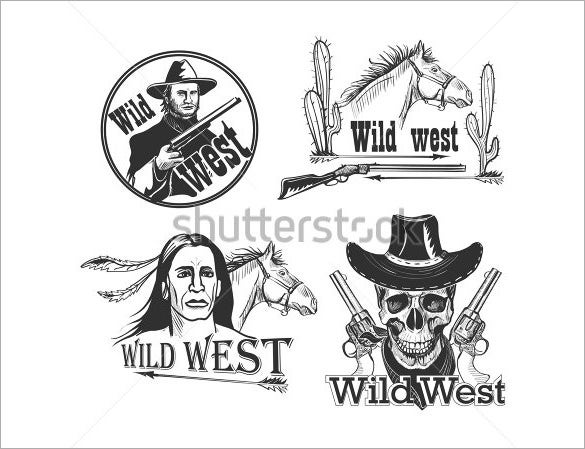 wild west cowboy logo