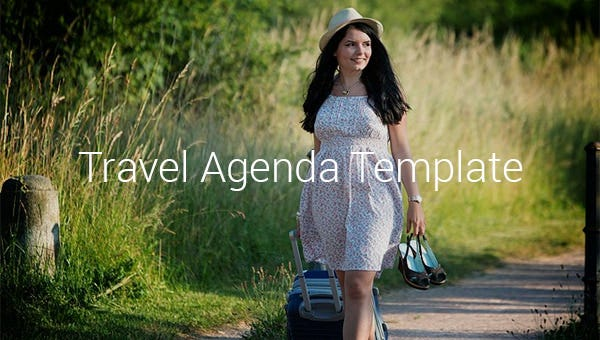 travelagendatemplates