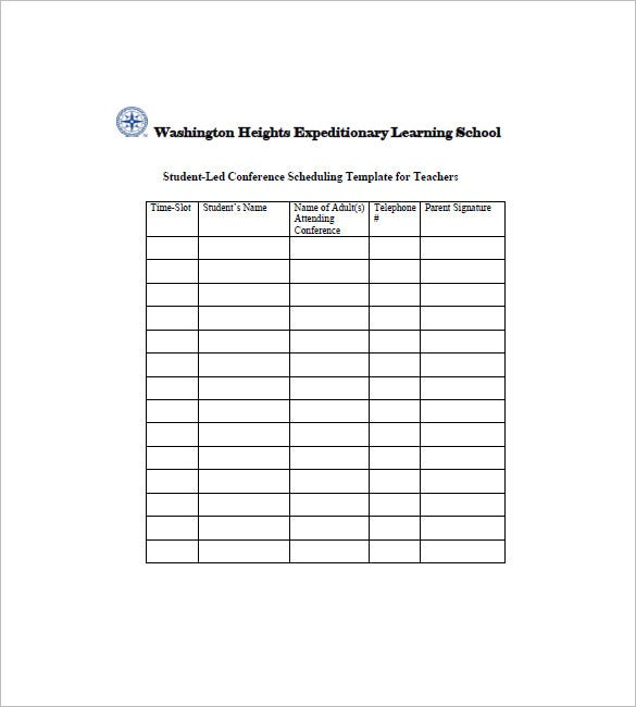 Student Agenda Template   Free Word Excel Pdf Format Download
