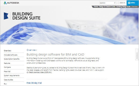 autodesk 3d building design software