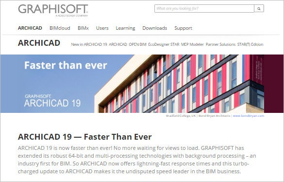 archicad 3d architectural dim software