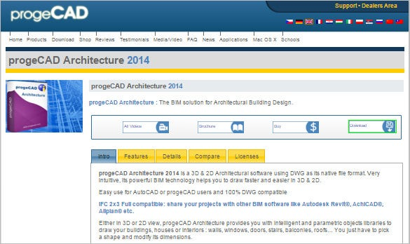 progecad architecture 2d 3d design software