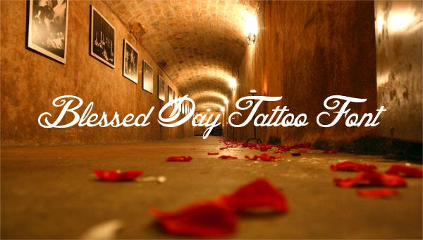 featuredimageblesseddaytattoofont