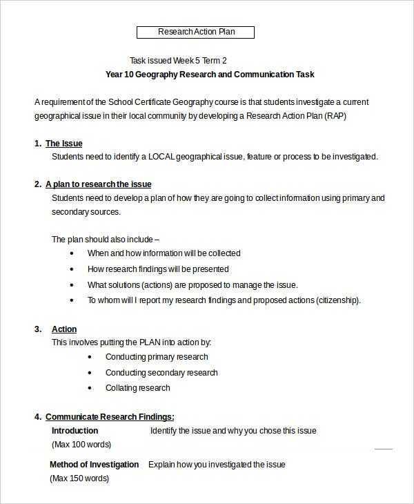 examples of a research plan Research proposal example the functionality model as conceptual foundation for management of technology (mot).