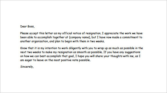 Good Funny Resignation Letter To Boss Sample PDF Free Download Throughout Funny Resignation Letters