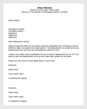 2 weeks notice email template