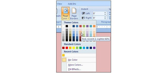 select page color for your certificate
