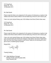 resignation letter template 137 free word excel pdf format