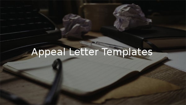 appeal letter templates