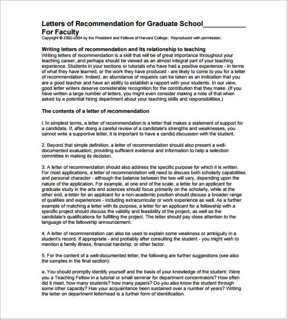 character letter of recommendation for graduate school pdf format