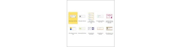 select gift certificate in the template