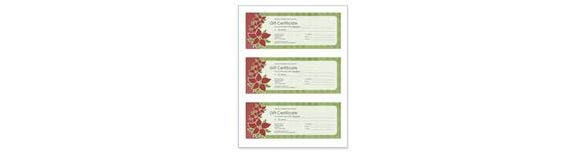 customize you gift certificate