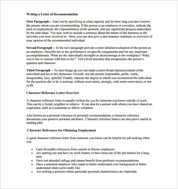 kentk12waus the letter of character recommendation format is a detailed guideline to draft a perfect letter of professional and character reference for