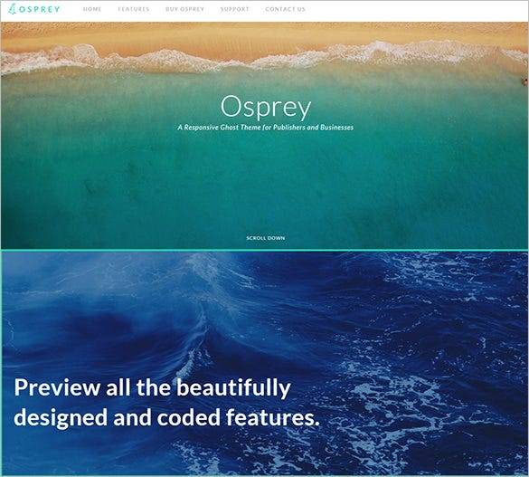 osprey ghost blog theme