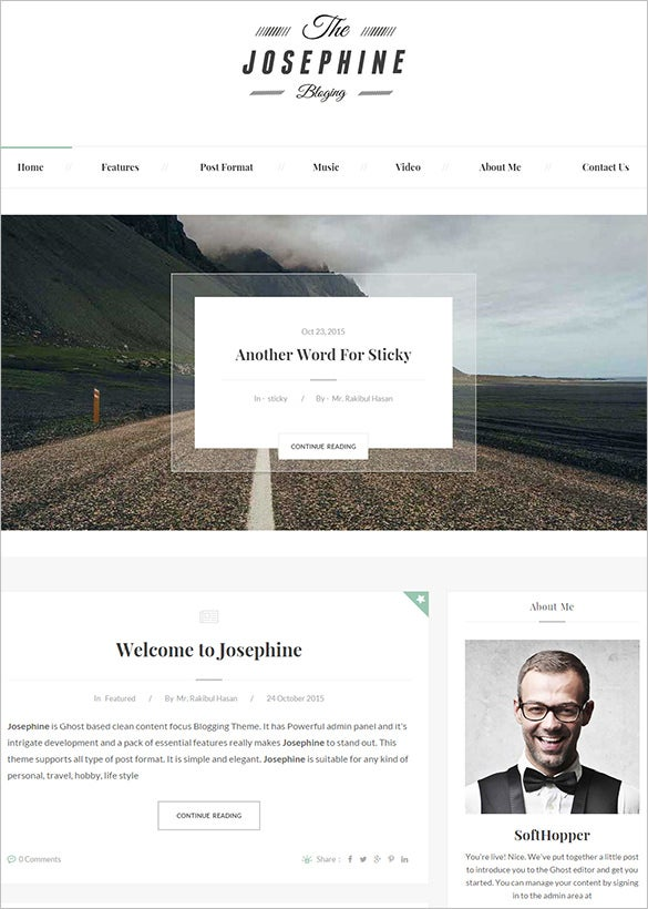 responsive ghost blog theme