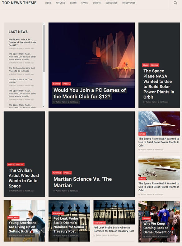 magazine ghost blog theme