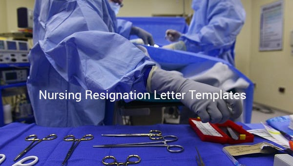 nursingresignationlettertemplate
