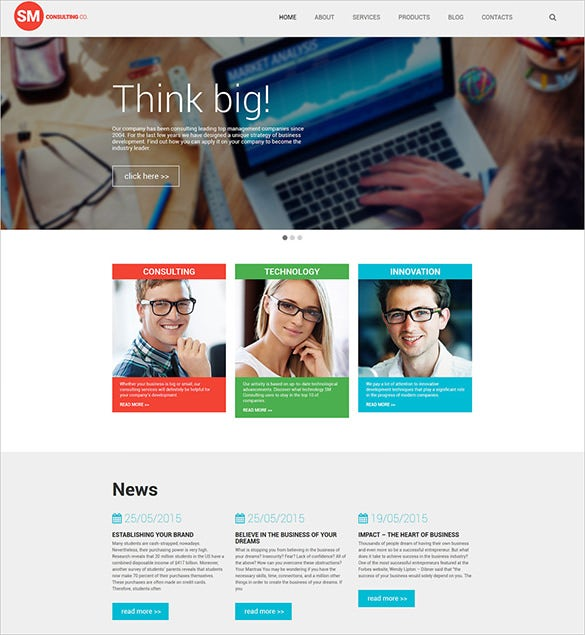 consulting blog business theme