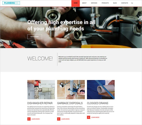 plumbing business blog template