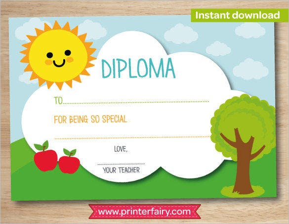 Certificate Template 50 Free Printable Word Excel PDF PSD – Certificate Template for Kids