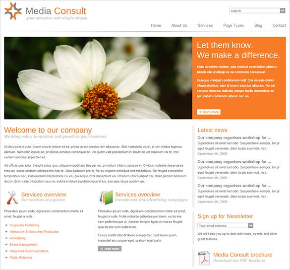 media consult business blog theme