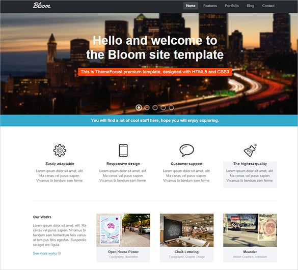 responsive business php theme