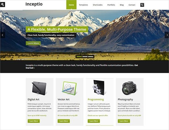 flexible business php theme