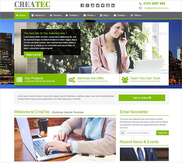 creative business php template