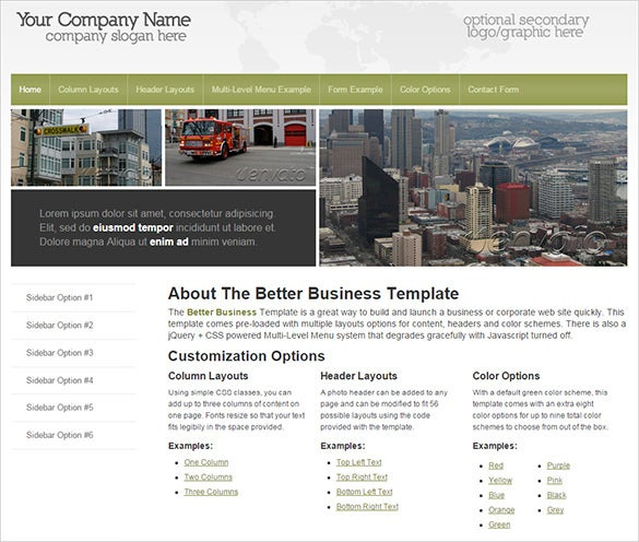 better business php theme
