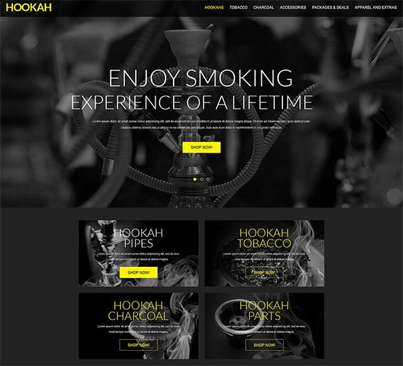 hookah business opencart template