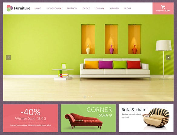 furniture business opencart theme