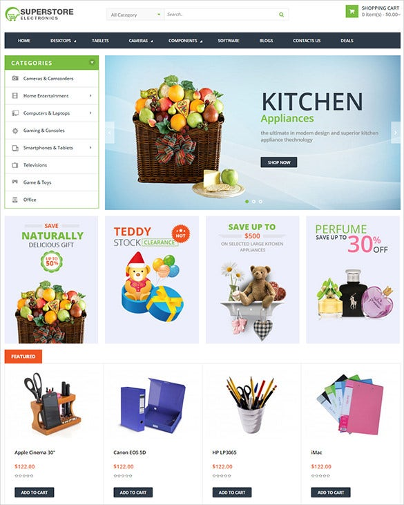 super store business opencart theme