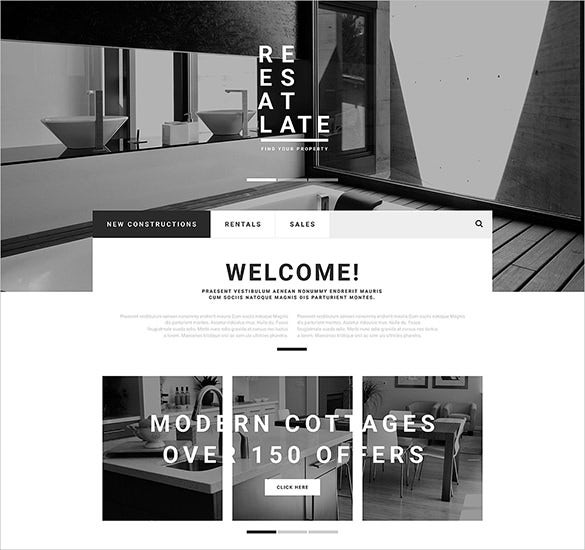 real estate business opencart theme