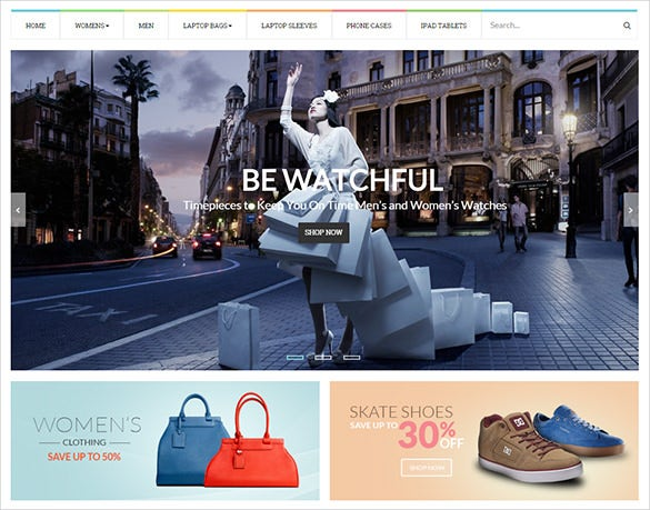 bag store business opencart theme