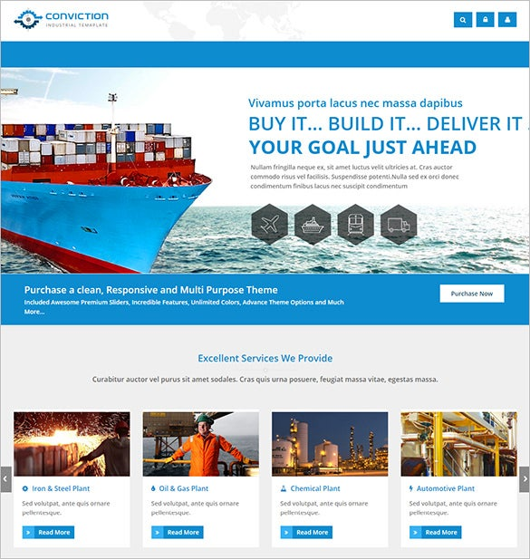 industrial business virtuemart theme