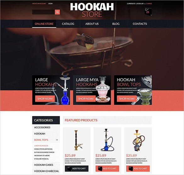 hookah business virtuemart theme