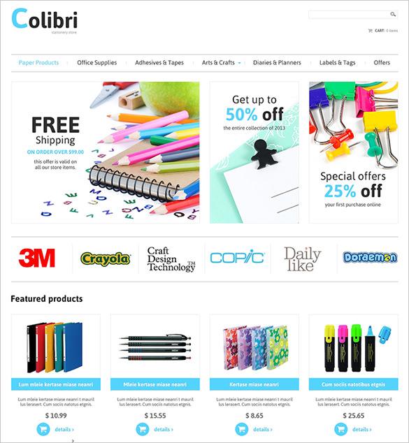 stationery business virtuemart theme