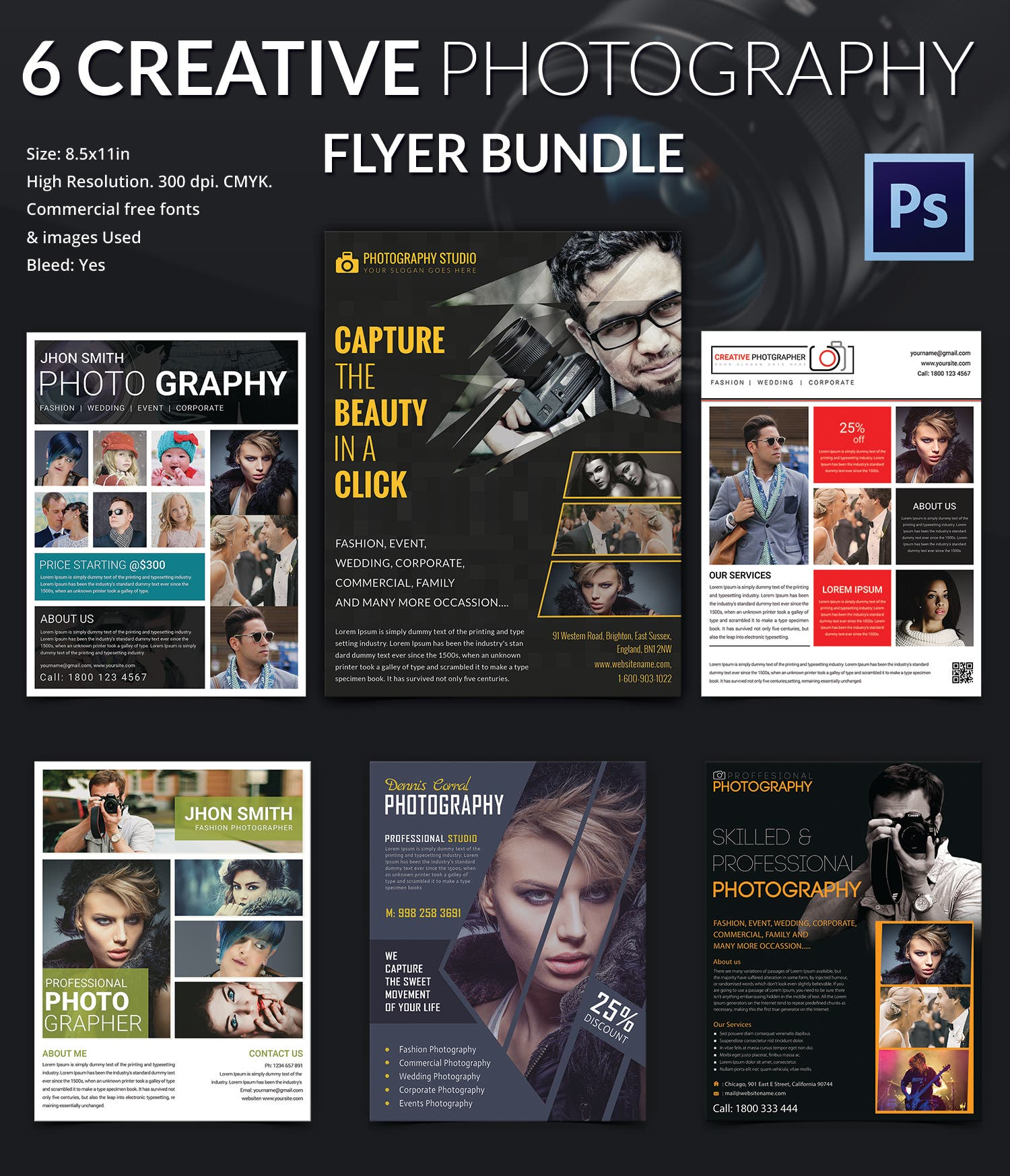 Creative Photography Flyer Bundle