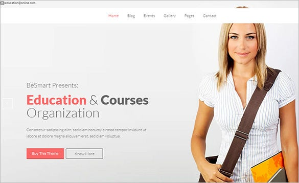 wordpress themes for education courses