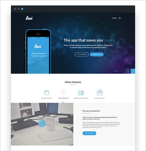 wordpress theme for mobile applications