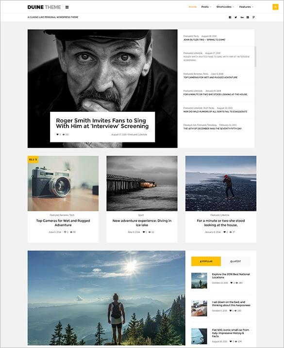 wordpress theme for a responsive blog