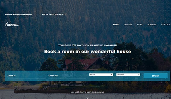 adomus hotel wordpress theme