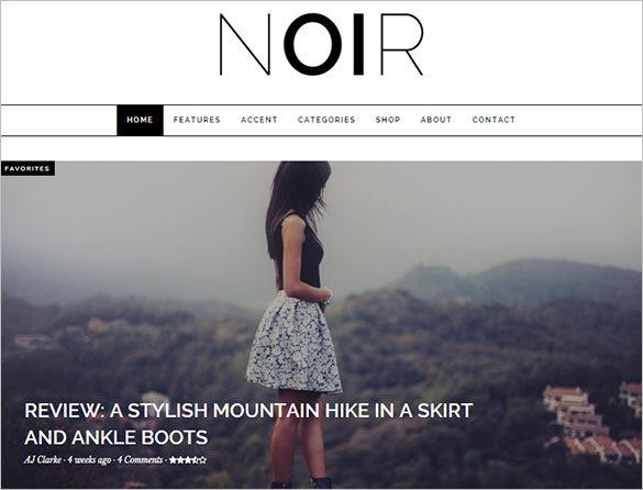 responsive wordpress blog shop theme