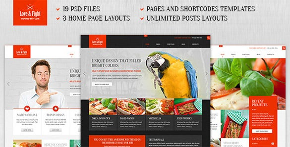 perfect business psd theme