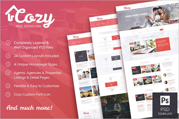 real estate business psd theme